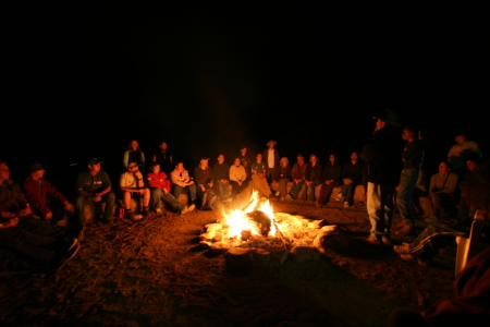 Campfire at Iga Warta